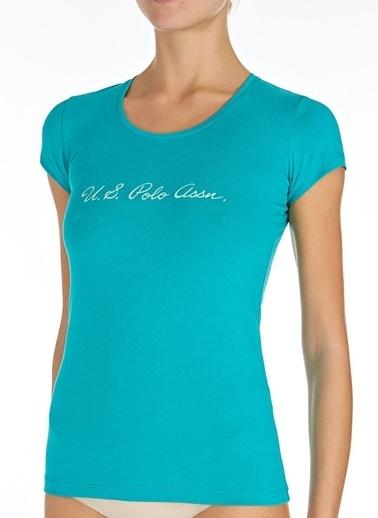 U.S. Polo Assn. Yuvarlak Yaka T-Shirt Turkuaz